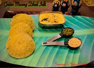 Green moong dhal idli