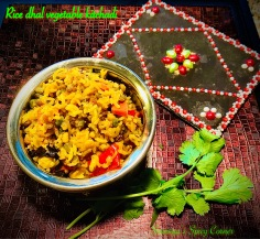 Rice dhal vegetable kitchadi