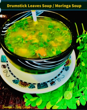 Drumstick leaves soup