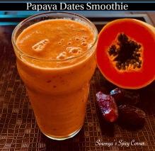 Papaya Dates Smoothie