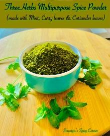 Three Herbs Multipurpose Spice Powder